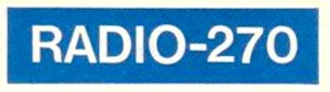 Radio 270 Blue Logo