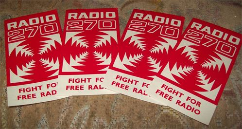 Radio 270 sticker in red